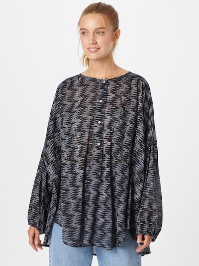 Free People Bluse in grau / schwarz, Modelansicht