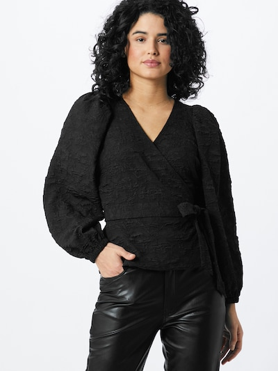 JUST FEMALE Blouse 'Toda' in de kleur Zwart, Modelweergave