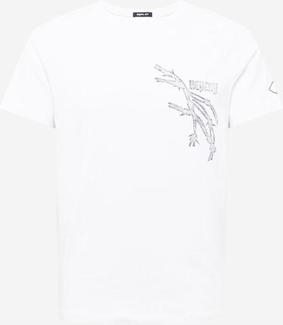 REPLAY T-Shirt in hellblau / dunkelgrau / weiß, Produktansicht