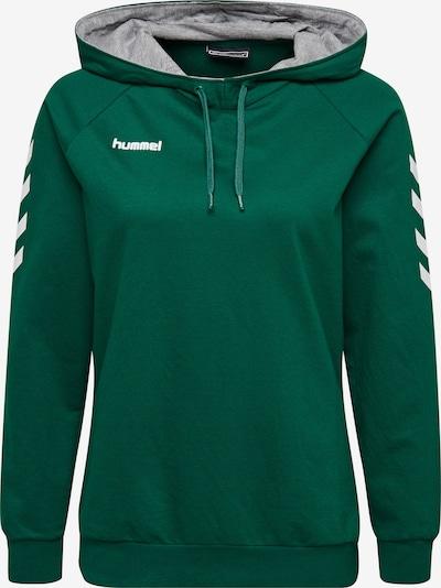 Hummel Sportsweatshirt in grün / weiß, Produktansicht