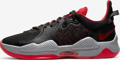 NIKE Sportschuh 'PG V' in grau / rot / schwarz, Produktansicht