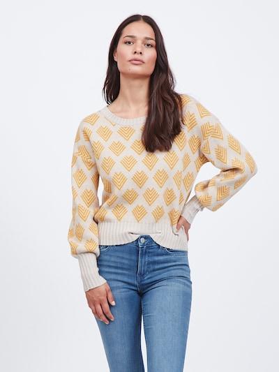 VILA Pullover 'Ceisa' in kitt / goldgelb: Frontalansicht