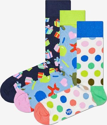 Chaussettes 'Happy Birthday' Happy Socks en blanc