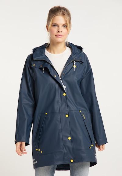 Schmuddelwedda Regenmantel in navy / gelb, Modelansicht