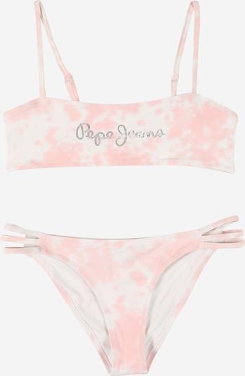 Pepe Jeans Бански тип бикини 'LAILA' в розово / сребърно / бяло, Преглед на продукта