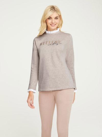 heine Sweatshirt in sand / weiß: Frontalansicht