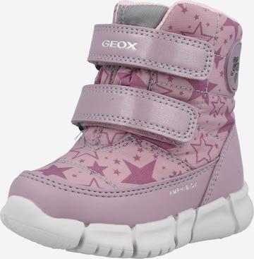 GEOX Snehule - ružová