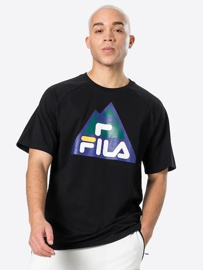 FILA Тениска 'Cheng' в гълъбово синьо / сребърно сиво / светлооранжево / черно / бяло: Изглед отпред