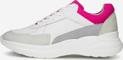 COX Sneaker in grau / hellgrau / dunkelpink / weiß, Produktansicht