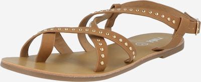Flip-flops 'TYRA' rubi pe bej închis, Vizualizare produs