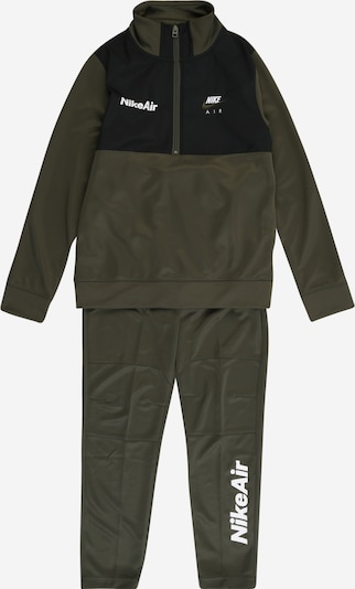 Nike Sportswear Joggingpak in de kleur Kaki / Zwart / Wit, Productweergave