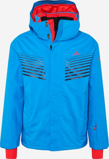 Schöffel Outdoorjas in de kleur Blauw / Rood / Zwart, Productweergave
