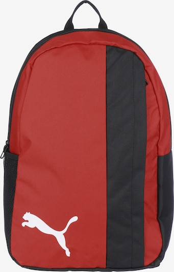 PUMA Sportrucksack 'TeamGOAL' in rot / schwarz / weiß, Produktansicht