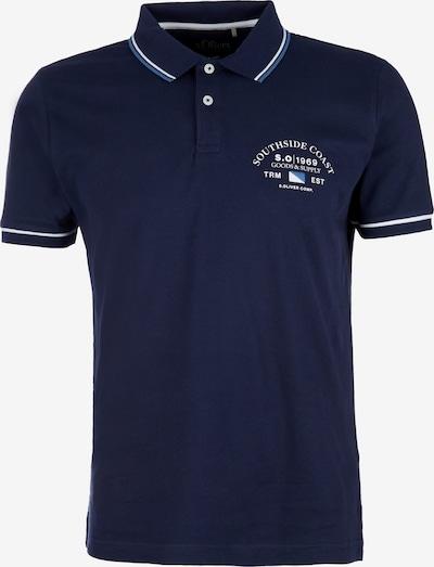 s.Oliver Poloshirt in blau / dunkelblau / weiß, Produktansicht