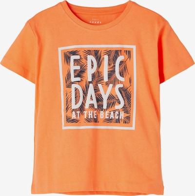 NAME IT Camiseta 'Vagno' en azul noche / naranja oscuro / blanco, Vista del producto