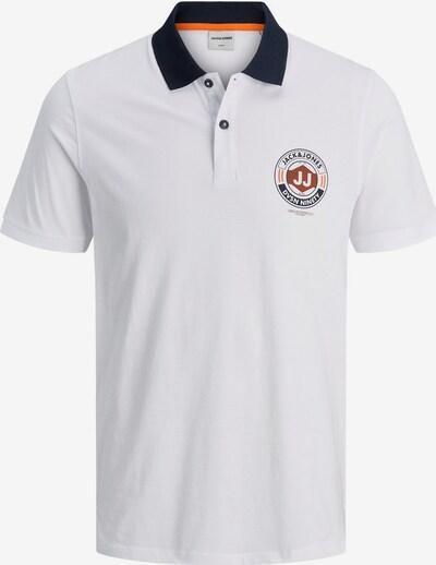 JACK & JONES Poloshirt in navy / braun / weiß: Frontalansicht