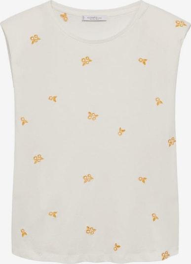 Tricou 'Emflow' VIOLETA by Mango pe galben / alb amestacat, Vizualizare produs