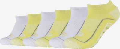 SKECHERS Sneakersocken 'Cushioned' in gelb / grau / weiß, Produktansicht