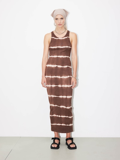 LeGer by Lena Gercke Robe 'Maischa' en beige / marron, Vue avec modèle