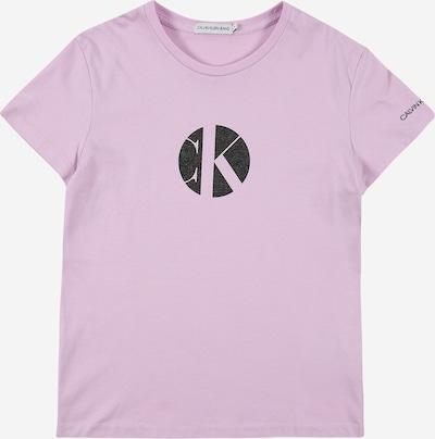 Calvin Klein Jeans Тениска в люляк / черен меланж, Преглед на продукта