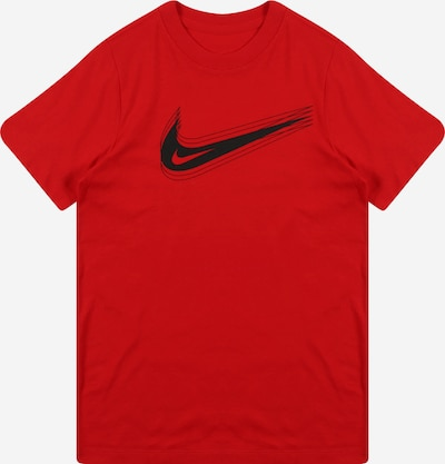 Nike Sportswear T-Shirt in dunkelrot / schwarz, Produktansicht
