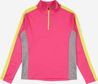 ICEPEAK Shirt 'FLEMINTON' in neongelb / grau / neonpink, Produktansicht