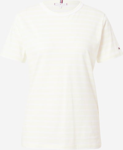 Tricou TOMMY HILFIGER pe galben pastel / alb, Vizualizare produs
