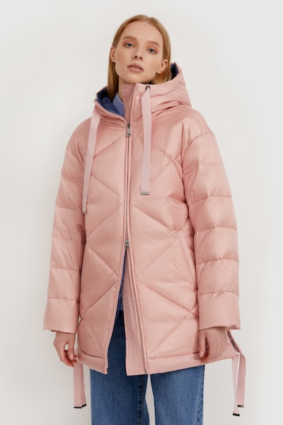 Finn Flare Steppmantel in pink: Frontalansicht