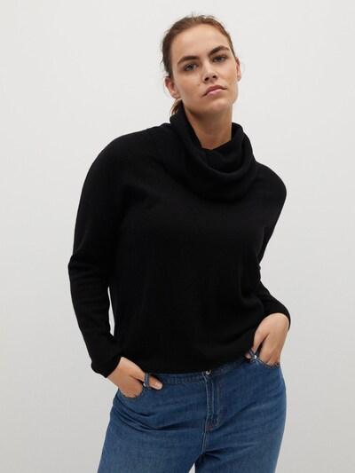 VIOLETA by Mango Pullover in schwarz, Modelansicht