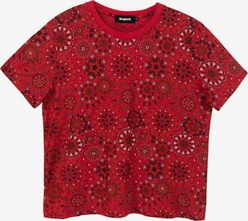 Tricou 'LYON' de la Desigual pe roșu