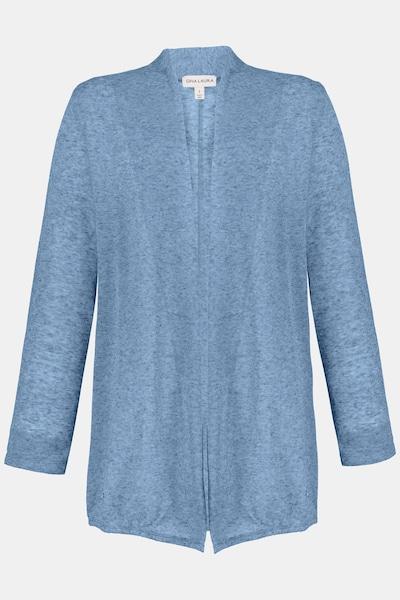 Gina Laura Gina Laura Damen Sweatjacke, Leinenmischung, offene Form 724090 in blau, Produktansicht