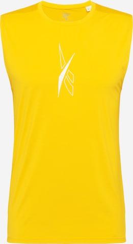 T-Shirt fonctionnel 'Workout Ready' Reebok Sport en jaune