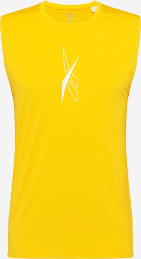 Reebok Sport T-Shirt fonctionnel 'Workout Ready' en jaune / blanc, Vue avec produit