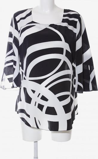 AMBRIA Long-Bluse in L in schwarz / weiß, Produktansicht