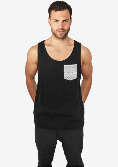 Urban Classics Shirt in de kleur Zwart: Vooraanzicht