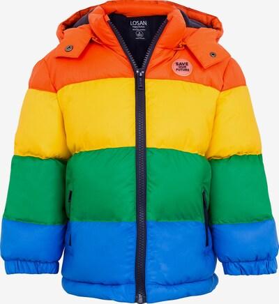 LOSAN Winterjacke in blau / gelb / grasgrün / orange, Produktansicht