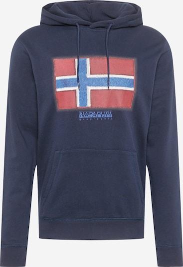 NAPAPIJRI Sweatshirt 'BIROL' in de kleur Blauw / Marine / Rood: Vooraanzicht