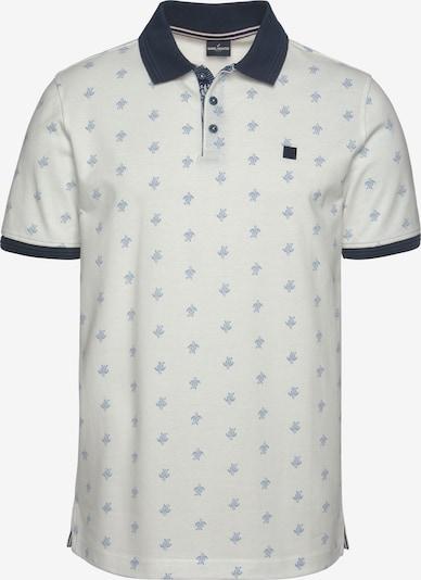 DANIEL HECHTER Poloshirt in navy / rauchblau / weiß, Produktansicht