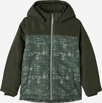 NAME IT Winterjas in de kleur Groen / Wit, Productweergave