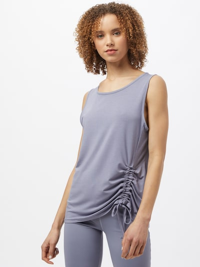 CURARE Yogawear Sports top in lilac: Frontal view