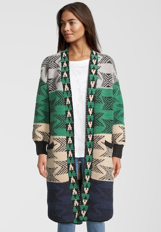 DELICATELOVE Knitted Coat 'ANNA BUBBLE' in Green