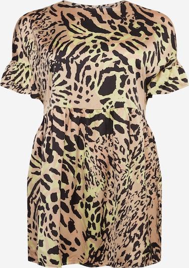 Missguided Plus Robe 'Leopard' en mélange de couleurs, Vue avec produit