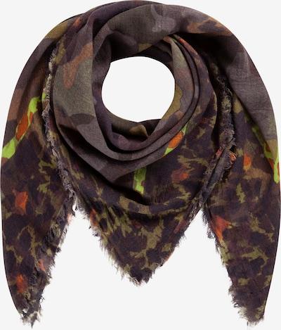 CODELLO Tarnmuster-Tuch aus Wolle und Modal in oliv, Produktansicht