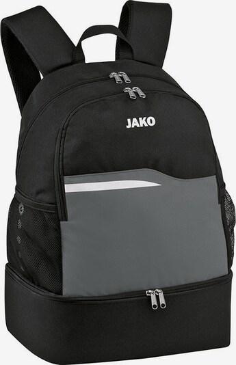 JAKO Rucksack in grau / schwarz / weiß, Produktansicht