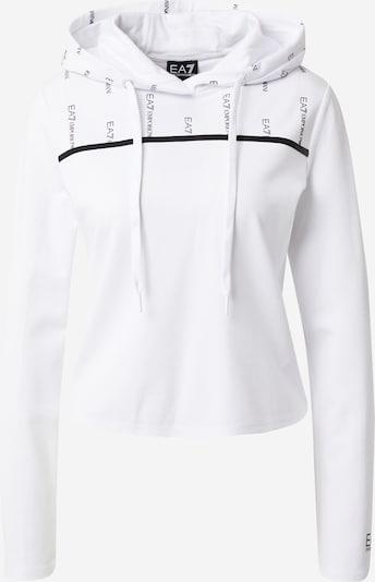 EA7 Emporio Armani Sweatshirt 'FELPA' in Black / White, Item view
