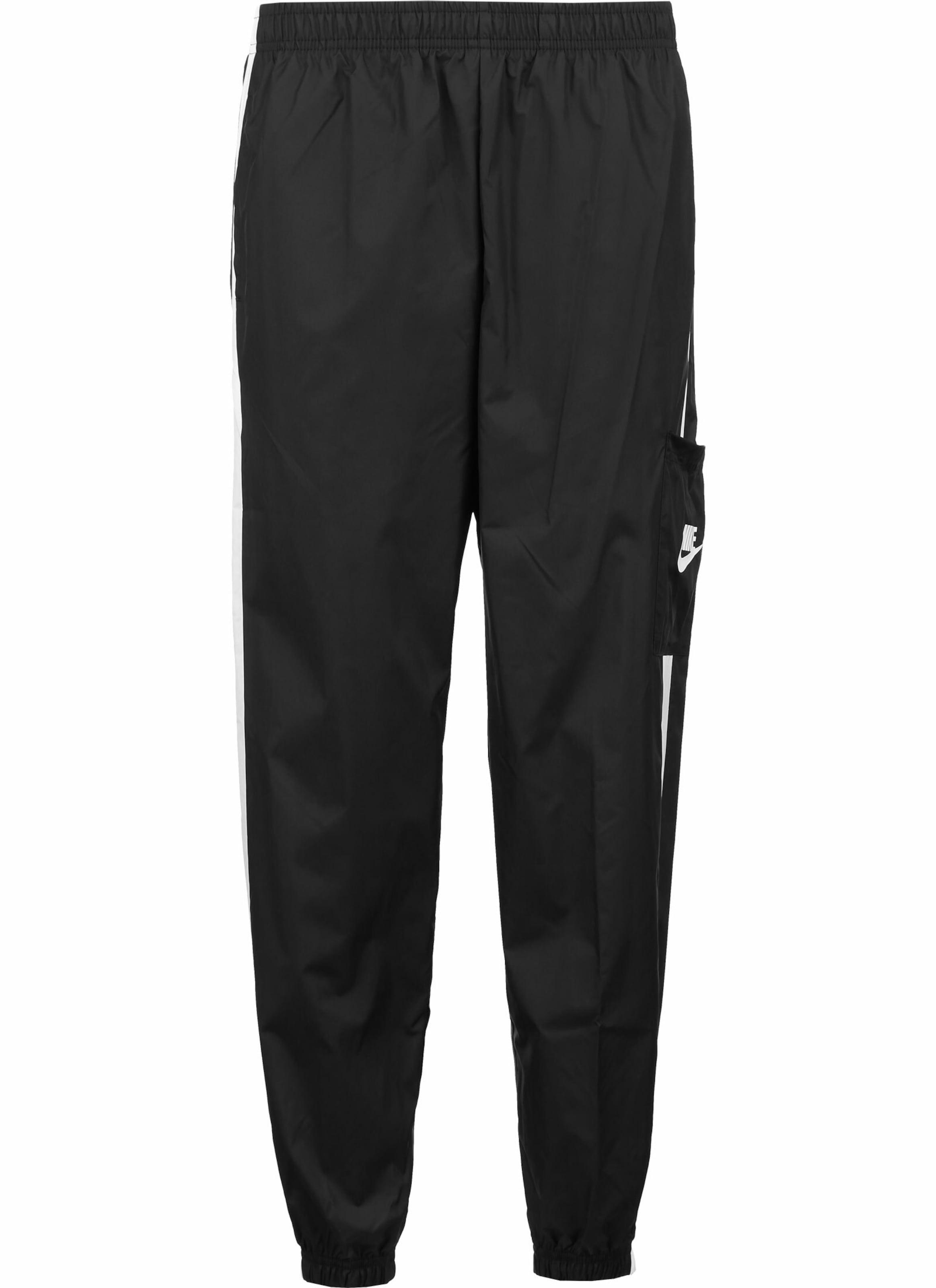 Nike Sportswear Nadrág fekete / fehér színben