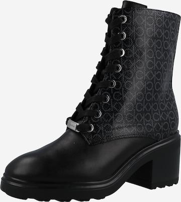 Bottines à lacets Calvin Klein en noir
