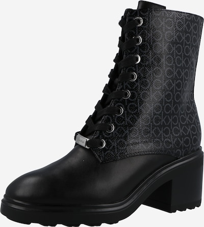 Calvin Klein Lace-Up Ankle Boots in Grey / Black, Item view