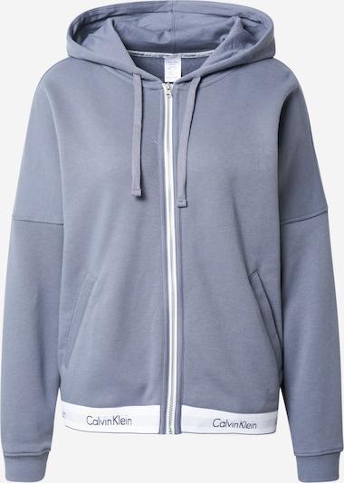 Calvin Klein Underwear Veste de survêtement en opal / blanc, Vue avec produit