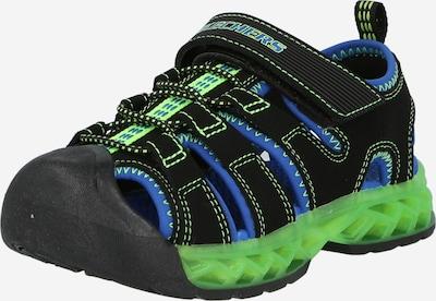 SKECHERS Otvorene cipele 'Blinkies' u plava / svijetlozelena / crna, Pregled proizvoda